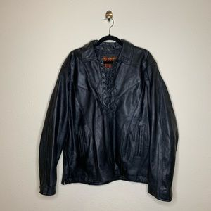 Hot Leathers Black Lace Motorcycle Jacket